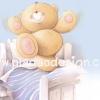 กระดาษสาพิมพ์ลาย สำหรับทำงาน เดคูพาจ Decoupage แนวภาำพ ภาพวาด ภาพแนวการ์ตูน น้องหมี ฮอลล์มาร์ค Hallmarks bear น้องหมีเด็กน้อยคึกคัก เต้นระบำอยุ่บนเตียงนอน (ปลาดาวดีไซน์)