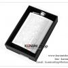 K017N กระป๋องใส่เหล้า (8OZ) สแตนเลสอย่างดี กระป๋อง ขวด ใส่เหล้า ใส่เครื่องดื่ม พิมพ์ลายสวย คลาสิค ขนาด สูง 13.9 x กว้าง 9.6 x หนา 2.3 cm.