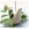 ที่วางเทียน ปักถ้วยใส่ดอกไม้ ใบพลูด่าง นกเซรามิค ห้อยต้นไม้ได้