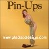 กระดาษสาพิมพ์ลาย สำหรับทำงาน เดคูพาจ Decoupage แนวภาำพ โปสเตอร์โฆษณา The Pin-up รูปสาวน้อยเปลือยกายมีผ้าบางปิดตัว สไตล์วินเทจ (ปลาดาวดีไซน์)