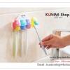 GK338 ที่แขวนแปรงสีฟัน รูปเห็ด สีสันสดใส ยึดติดแบบจุกยางสูญญากาศ ไม่ต้องเจาะผนัง