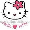 กระดาษสาพิมพ์ลาย สำหรับทำงาน เดคูพาจ Decoupage แนวภาำพ hello kitty ลายเส้น หน้าใหญ่มาก มากับหัวใจสีชมพู พร้อมชื่อ Hello Kitty (ปลาดาวดีไซน์)
