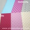 ผ้า Cotton พิมพ์ลาย สำหรับทำงานฝีมือ หรือบุชิ้นงาน - ลาย จุด จุด จุด หลากหลายขนาด