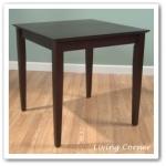 โต๊ะไม้จริง ขนาด 75x75xh75 ซม. (รับสั่งทำโต๊ะตามขนาด)