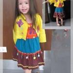 ชุดเด็ก(เดรส)โมฮีเบียนเหลือง ไซส์ 2,4
