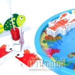 จิ๊กซอว์ไม้แม่เหล็กตกปลาและเพื่อนสัตว์ทะเล 2in1