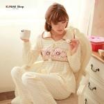 SP028 ชุดนอนเสื้อคู่กางเกง สวยหวาน น่ารัก