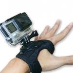 ที่สวมมือพร้อมหมุน 360 องศาสำหรับกล้อง Action
