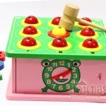 ของเล่นไม้ บล็อคหยอดตัวเลข +ทุบบอลตัวเลข