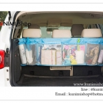 GB183 กระเป๋าผ้าจัดระเบียบ แขวนใส่ของในรถยนต์ SUV มีช่องใส่ของมากมาย คล้องติดกับเบาะหลังรถ ขนาดกว้าง 110 x สูง 34 cm.