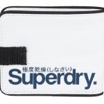 Superdry - Tarpaulin Wallet สีขาวโลโก้ น้ำเงิน white / Bluenavy - normal size