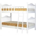 เตียงนอน 2 ชั้น สีขาว ดีไซน์สวย แข็งแรงทนทาน สามารถนอนได้ทั้งเด็กและผู้ใหญ่