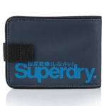 Superdry - Tarpaulin Wallet สีน้ำเงินเข้ม โลโก้น้ำเงิน