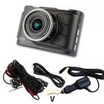 กล้องติดรถยนต์ หน้า+หลัง AM2000 สีดำ