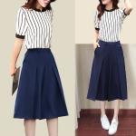ชุดแฟชั่นฤดูร้อนเสื้อผ้าผู้หญิงเกาหลีกว้าง culottes สองชิ้น