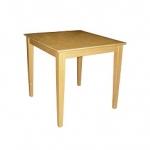 โต๊ะไม้จริง 75x75xh75 ซม.สีบีช (รับสั่งทำโต๊ะตามขนาด)