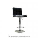 เก้าอี้บาร์ขาเหล็ก รุ่น Maxx - เก้าอี้ร้านอาหาร ร้านกาแฟ เบาะหนังสีดำ