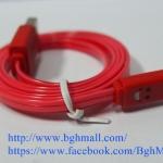 สายชาร์จ Iphone 5, Iphone 5s, IPAD MINI LIGHTNING CABLE แบบมีไฟ เปลี่ยนสีได้ - แดง