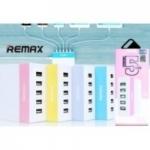 Remax อแดปเตอร์ปลั้กต่อ USB Charger 5 U RU-U1 สีม่วง