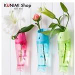 GK228 แจกัน รูปปลา แขวนดอกไม้ พลูด่าง ยึดติดแบบกวาสองหน้า มี 3 สี สีชมพู สีฟ้า สีเขียว ขนาด กว้าง 6 x ยาว 23.5 cm.