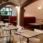 เก้าอี้บูธพนักพิงสูง สำหรับร้านอาหาร ร้านกาแฟ คาเฟ่