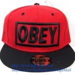 [259 บาทส่งฟรี] หมวก OBEY - แดง , ดำ
