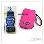 GB043 กระเป๋าใส่เครื่องสำอางค์ อุปกรณ์อาบน้ำ พกพาเดินทางท่องเที่ยว ขนาด สูง 20 x กว้าง 13 xหนา 5 ซม.