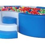 บ่อบอลรูปถั่ว (สีฟ้า-ขาว)