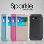 เคส Alcatel One touch Flash Plus ยี่ห้อ nillkin Sparkle Leather Case สีดำ (วัสดุเกรดพรีเมียม คุณภาพดี)