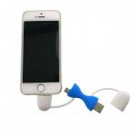 OTG พกพา ใช้กับ ไอโฟน Andriod สีฟ้า