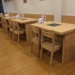 โต๊ะชาบูหม้อฝัง+เก้าอี้ยาว+เก้าอี้เดี่ยว สำหรับร้านชาบู