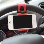 GL184 ที่วาง ยึดจับ โทรศัพท์มือถือ ที่พวงมาลัย ในรถยนต์ สีแดง