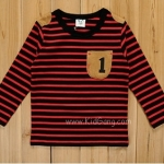 เสื้อผ้าเด็ก แขนยาว ลายแดง ci&si ไซส์ 100,110