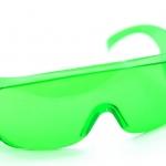 แว่นตากันน้ำ แว่นตากันลม สำหรับขี่จักรยาน safety glasses สีเขียว
