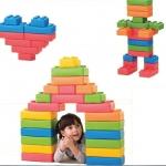 ตัวต่อเลโก้ LERADO ชิ้นเล็ก SIZE:11X11X6.5 cm 10 ชิ้น ชิ้นใหญ่ SIZE:11X22X6.5 cm 20 ชิ้น