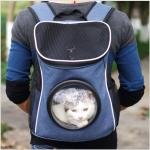 กระเป๋าใส่น้องแมว สะพายหลัง-น้ำเงิน