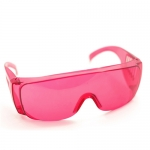 แว่นตากันน้ำ แว่นตากันลม สำหรับขี่จักรยาน safety glasses สีแดง