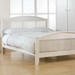 เตียงนอน สีขาว ดีไซน์สวย เรียบหรู (สั่งทำ 10 ชุดขึ้นไป)