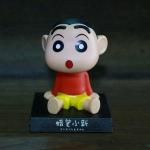 GC016 ตุ๊กตาส่ายหัว ชินจัง วางในรถยนต์ หรือ ตู้โชว์ สวย น่ารัก ตรงฐานสามารถเลื่อนออกมาเพื่อวางมื่อถือได้ครับ