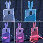 เคส Samsung Note4 เคสใสหูกระต่าย ป้องกันรอยขีดข่วนและรอยกระแทก