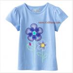 เสื้อเด็กเนื้อนิ่ม ลายดอกไม้ ไซส์ 6ปี