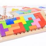 ของเล่นไม้ บล็อคไม้เกมส์Tetris Katamino