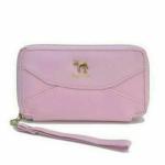 กระเป๋าสตางค์น่ารัก และใส่มือถือได้ สีชมพู สีน้ำตาล
