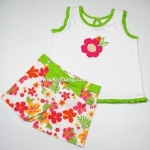 เสื้อ+กางเกง Carter ลาย Green-FlowerPleไซส์ 2,3,4ปี