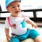 ชุดเด็กBlueGreen_Fish(เซท)ไซส์ 23ด (เสื้อเด็ก+กางเกงเด็ก)