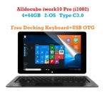 ALLDOCUBE iwork10 Pro Windows10 + Android5.1 แท็บเล็ต 2 ระบบ Intel Atom X5 Z8350 Quad Core 4GB RAM 64GB Rom จอ 10.1 นิ้ว แบบ IPS 1920*1200