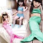 ชุดว่ายน้ำเด็กVivo Biniya นางเงือก3 ชิน สีเขียว