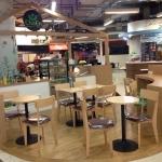 ชุดโต๊ะกาแฟกลม 2 ที่นั่ง สำหรับร้านกาแฟ (MR-SET)