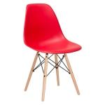 เก้าอี้ดีไซน์สีแดง น่ารักสดใส สำหรับแต่งร้านกาแฟ คาเฟ่ ร้านบิงซู