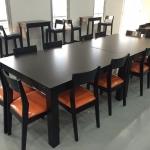 โต๊ะไม้ 120x150xh75 ซม.(สั่งทำขาโต๊ะใหญ่พิเศษแบบเหลี่ยมจัตุรัส)